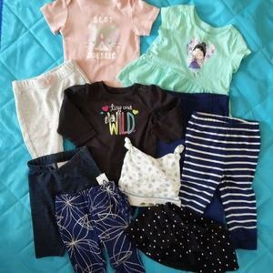 3-6 month baby girl 10 piece lot
